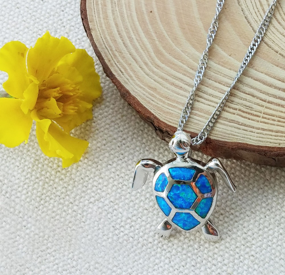 sea-turtle-blue-fire-opal-pendant-necklace 5