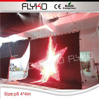 4x4m Free shipping p50mm fireproof LED Video Curtain Auto run / DMX control /computer control
