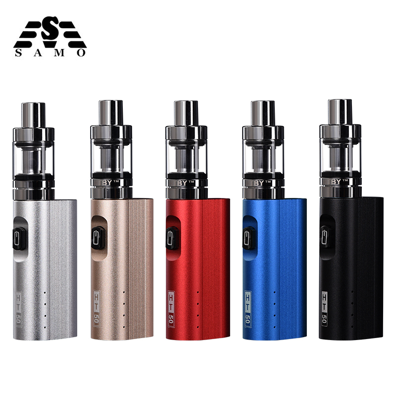 Original HT 50 vaporizador cigarrillo electrónico kit 2200 mAh 50 W e cigarrillo caja mod 510 hilo 2.0 ml tanque e-cigarrillo vape pen Kit