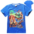 4 pieces/lot cartoon Jurassic World dinosaurs design cotton children clothing boys t shirt kids clothes baby boys tops t shirt