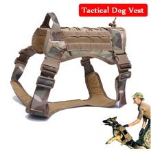 New ! Waterproof Military Police Dog Training Molle Vest Tactical Hunting Service Harness Jacket 3 Size