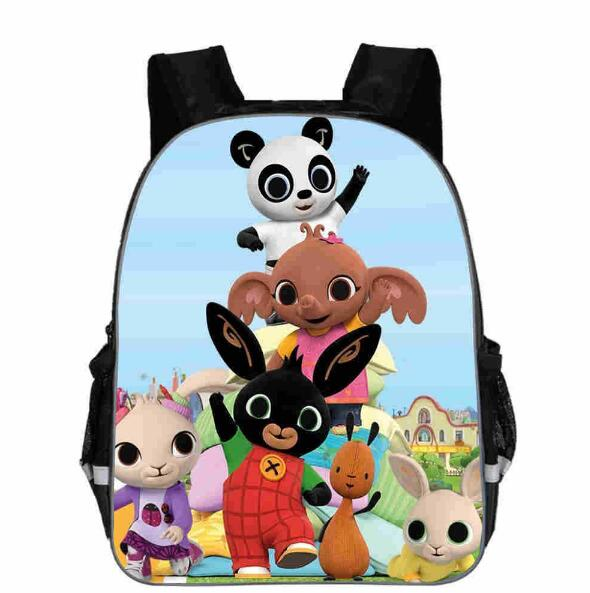 New Lovely Bear Printing Schoolbags Rabbit Cartoon Cute Bing Teenage Backpack Bunny Bags For Girls Feminine Schoolbag
