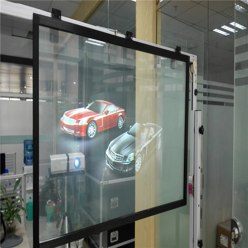 1.52x9m Holographic Rear Projection Transparent Screen for POP displays 24 dark gray gray white holographic rear projection screen transparent rear projector film indoor hologram advertising