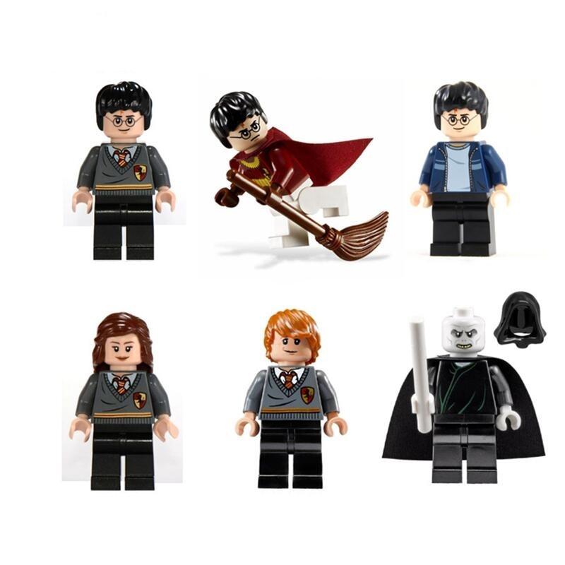 Nouveau Legoingly Harri Potter Figure Hermione Ginny Ron Weasley Seigneur Voldemort Draco Malfoy Luna Snap Blocs de Construction Jouets
