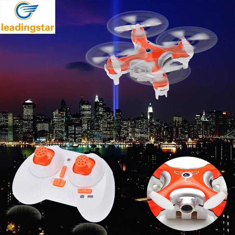 Mini Drone con Cámara de Luz LED LeadingStar CX-10C 2.4G 6-Axis Gyro 4CH RC Micr