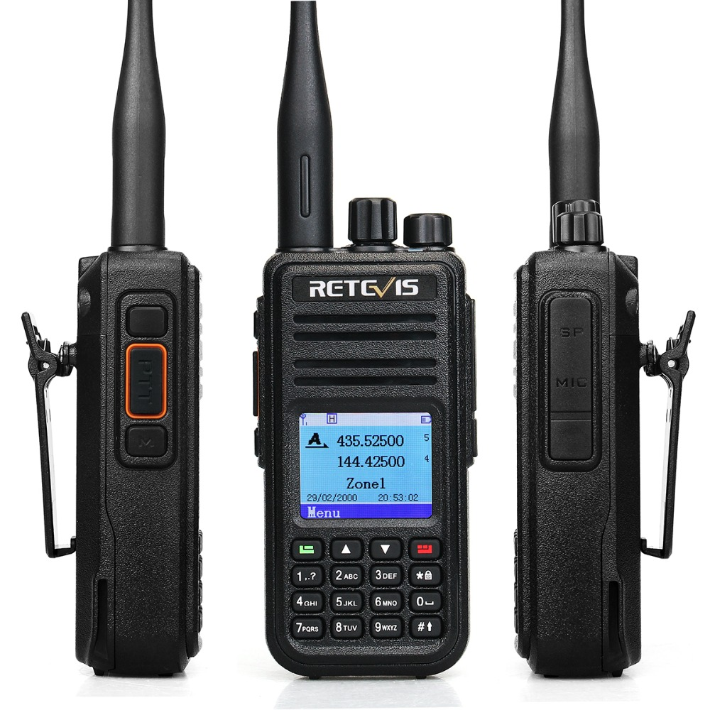 Image 4 - RETEVIS RT3S DMR Digital Radio Walkie Talkie (GPS) 5W VHF UHF Dual Band DMR Radio Transceiver Ham Radio Amador+Program Cable-in Walkie Talkie from Cellphones & Telecommunications