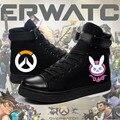 Juego caliente OW d. va una y ver D. VA/Trazador/Misericordia Cosplay botas de Tacón Plano Zapatos de Tamaño Personalizado 36-42 en el envío gratis