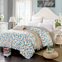 New Soft and comfort 100% Cotton Free shipping Plant Flowers Quilt cover Duvet cover 160/180/200/220cm Twin Full Queen King Size