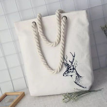 купить Fashion Casual Women Print Large Capacity Tote Canvas Shoulder Bag Shopping Bag Beach Bags Casual Tote Feminina дешево