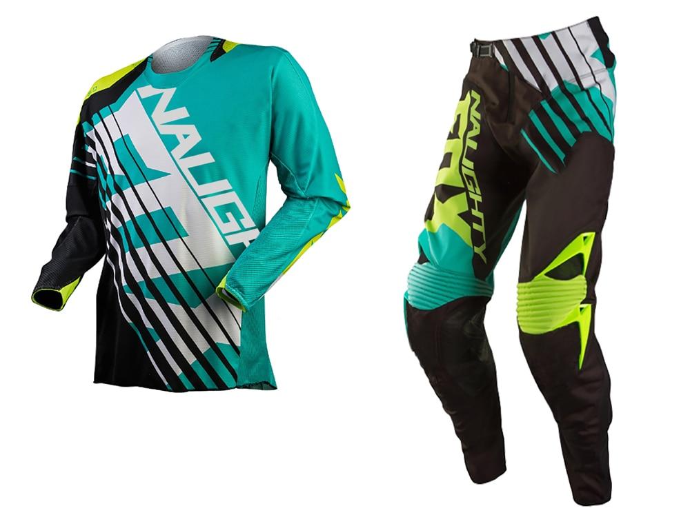 Rétro classique vilain renard 360 Motocross course costume SAVANT Jersey + pantalon MX DH vtt tout-terrain équitation Combos Moto Gear noir/bleu