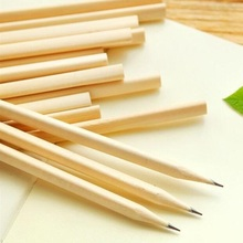 4PCS NEW Students Simple style Blank Nontoxic Environmental wooden pencils Kawaii painting log pens for kids
