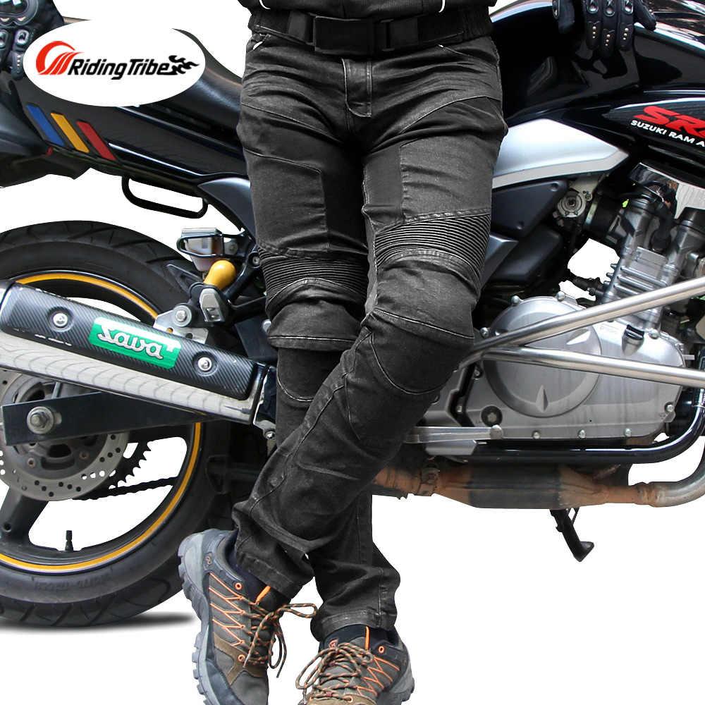 Equitazione Tribù degli uomini Dei Jeans Da Moto Motocross Off-road Racing Biker Pantaloni Traspirante Ginocchio Equipaggiamento Protettivo Moto Pantaloni HP -03
