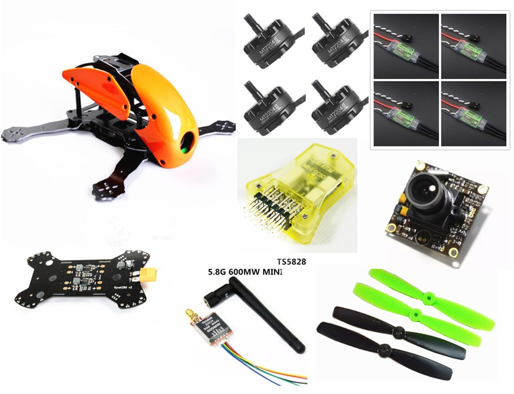 DIY FPV mini drone Robocat 270 Fiberglass / carbon quadcopter frame kit mini CC3D EMAX 2204II 2300KV + BL12A ESC OPTO + camera diy fpv mini drone qav210 zmr210 race quadcopter full carbon frame kit naze32 emax 2204ii kv2300 motor bl12a esc run with 4s