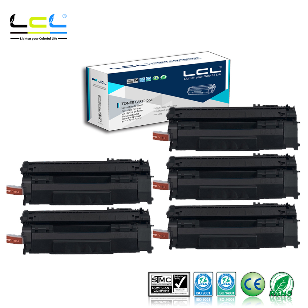 LCL Q5949A 5949A 49A Q 5949 A Q5949 (5-Pack) Compatible Laser Toner Cartridge for HP LaserJet 1320/1320N/1320TN/3390MFP/3392MFP