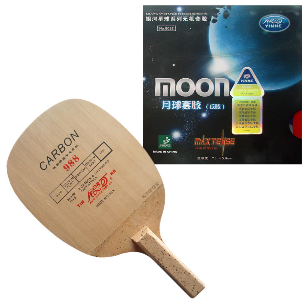 Pro Combo Racket Galaxy YINHE 988 With Galaxy YINHE Moon Max Tense Factory Tuned Rubber