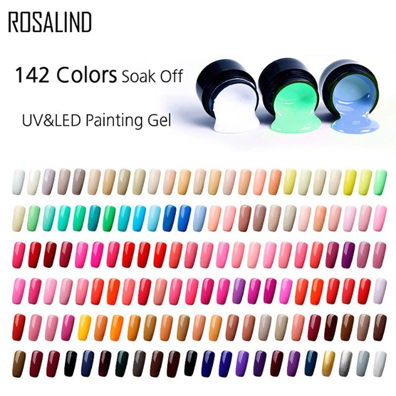 Rosalind Gel Ensemble de laques peinture vernis à ongles vernis à ongles ongles 5 ml DIY design tout pour la manucure Primer hybride pour les ongles Vernis gel