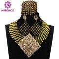 Elegante de la Boda Nigeriano Beads Africanos Joyería Conjunto Bolas de Cristal ANJ317 Collares Nupcial Joyería Fija El Envío Libre
