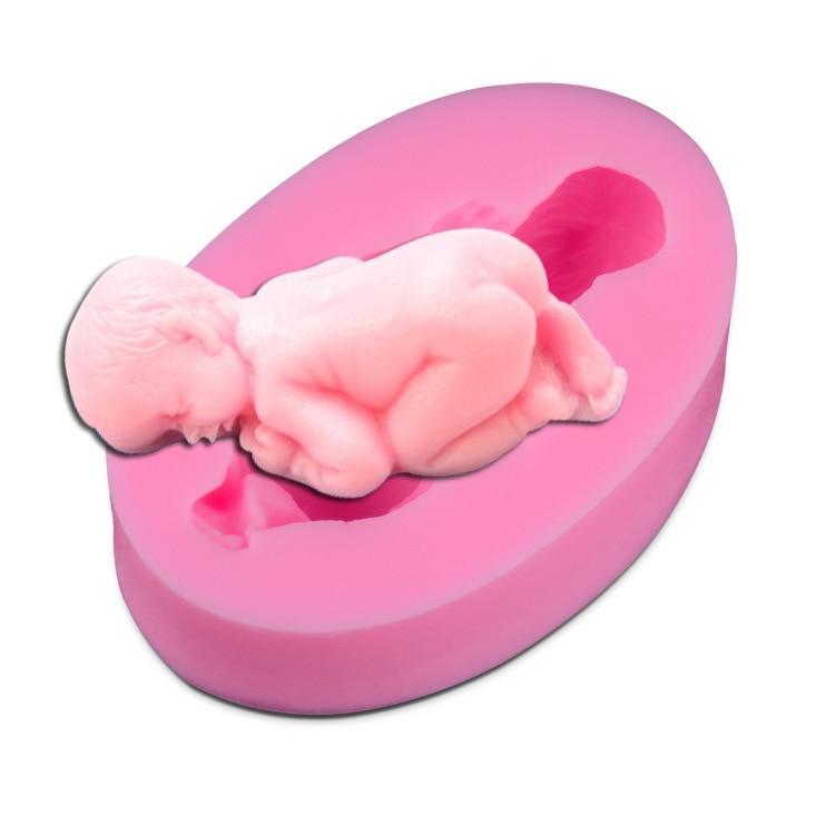 1PC dítě zase cukr dort forma silikonová forma ručně vyráběné mýdlo pečení nástroj čokoláda plíseň J0873