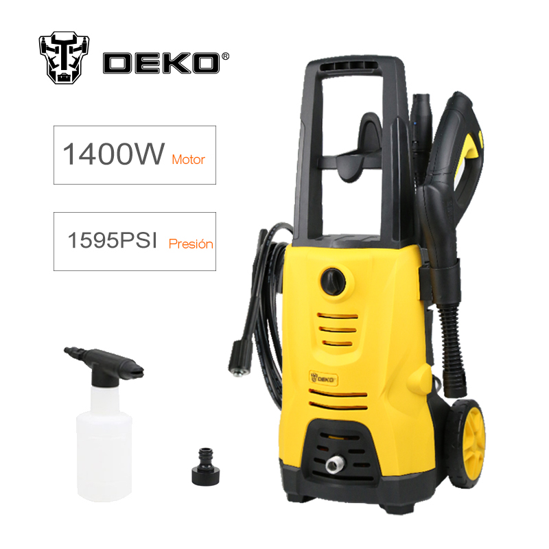 DEKO 220V-240V Electric High Garden Pressure Washer 1400W 1.41GPM Cleaner Machine 1595PSI Car Electric Pressure Washer homeleader 7 in 1 multi use pressure cooker stainless instant pressure led pot digital electric multicooker slow rice soup fogao