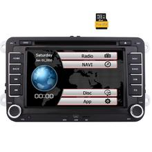 2Din 7 Inch Touch Screen Car Stereo for VW Golf Skoda Passat Head Unit In Dash Bluetooth Navigation DVD Multimedia 8GB Map Card