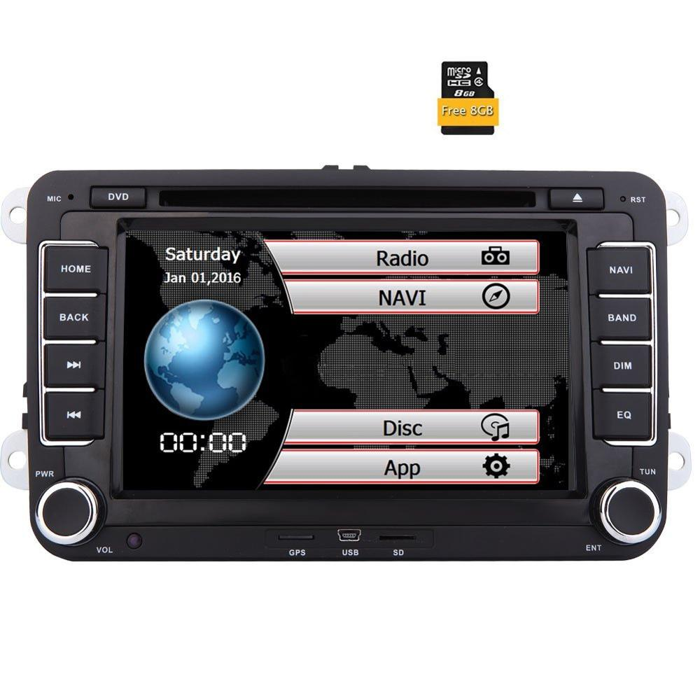 2Din 7 Inch Touch Screen Car Stereo For VW Golf Skoda Passat Head Unit In Dash
