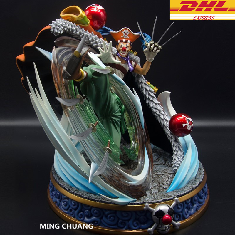 ONE PIECE Statue Seven Warlords Of The Sea Buggy Bust Clown GK 33CM Action Figure Collectible Model Toy BOX D623 11 statueone piece seven warlords of the sea sitting jinbe bust gk action figure collectible model toy box d621