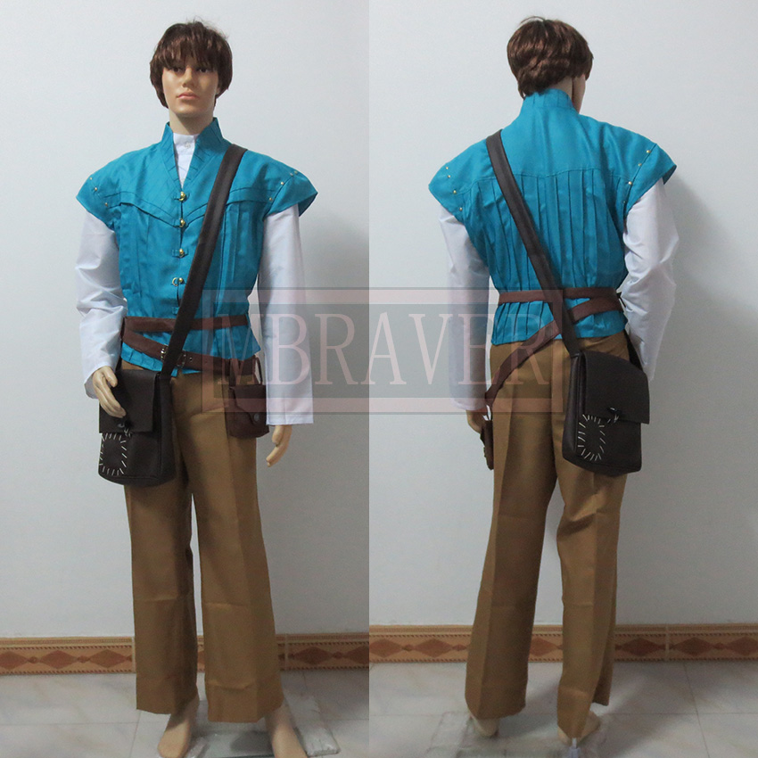 Movie Tangled Prince Flynn Rider Prince Costume Custom made All Size