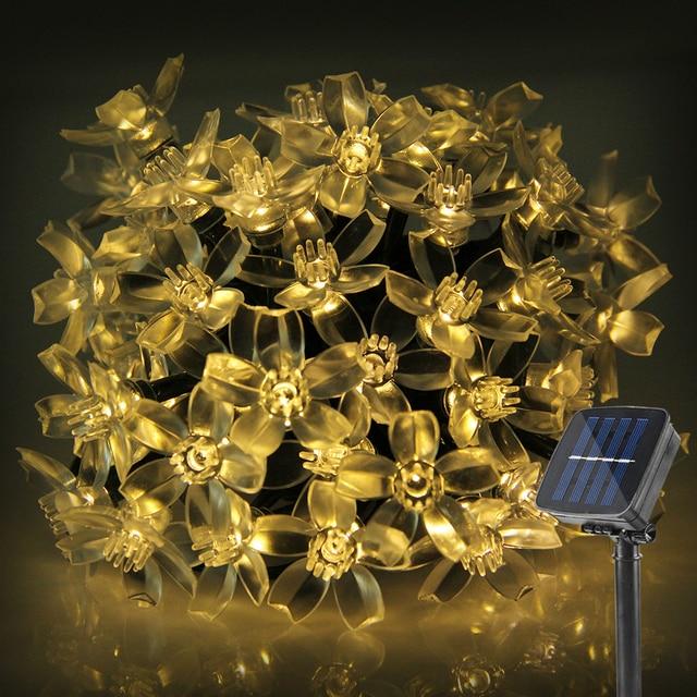 A prueba de agua Solar LED Luces de Cadena 5 M luz de navidad LED de Iluminación Al Aire Libre Decoración de Vacaciones De Navidad Festival de Fiesta de Colores