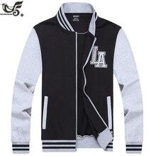 XIYOUNIAO plus size L ~ 7XL 8XL dos homens novos primavera outono outwear  uniforme esportivo jaquetas marca Jaqueta Bomber homen. 70d37c55e8a8a