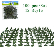 100PC/Set American Soldier Action Figure Model Toy Army Military Display Collection Juguetes Chidlren Birthday Christmas Gift