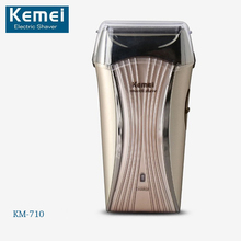 Original Kemei KM-710 Rechargeable Electric Shaver Twin Blade Electric Shaving Razors For Men Face Care Shaver