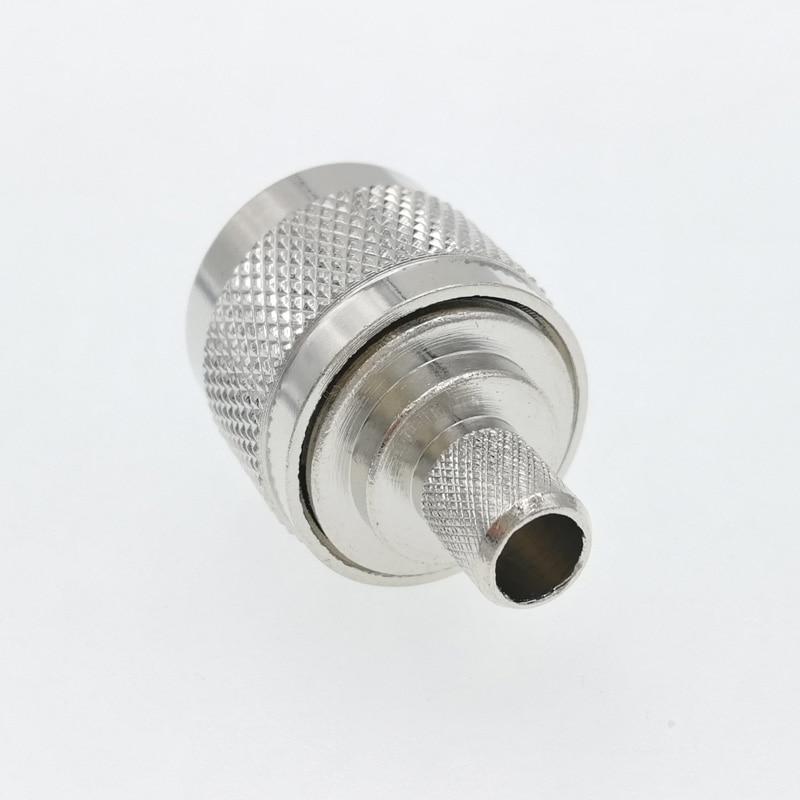 50pcs N Male Crimp RG5 LMR300 RG212 5D FB Cable RF Connector
