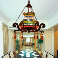 Turkey Light Color Glass Mosaic Pendant Lights Features Restaurant Cafe Internet Cafe Decoration Bar Thai Lamp