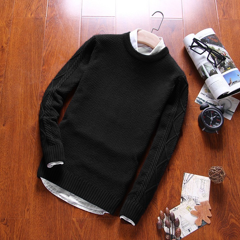 Sweater Men Knitwear Winter Coat Pullovers Long-Sleeve O-Neck Homme Casual Cotton And