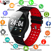 Smart wrist LIGE Smart Wristband 2019Touchscreen Swim Posture Detect Heart Rate Sleep Snap Pedometer Sport Watch For Android iSO