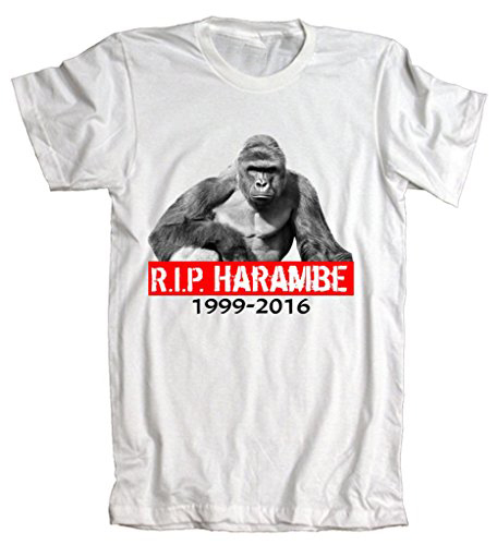 ed2635a83 T Shirt American Apparel: Rip Harambe Rest In Peace Gorilla R.I.P. Tribute  T-Shirt