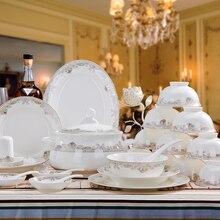 [color] Ningxiang Yi Jingdezhen ceramic dishes in Phnom Penh, European bone china tableware set