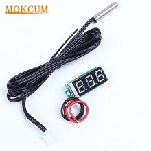 0,28 дюймов мини красный цифровой термометр NTC металлический водонепроницаемый датчик температуры DC4-28V комнатный уличный тестер