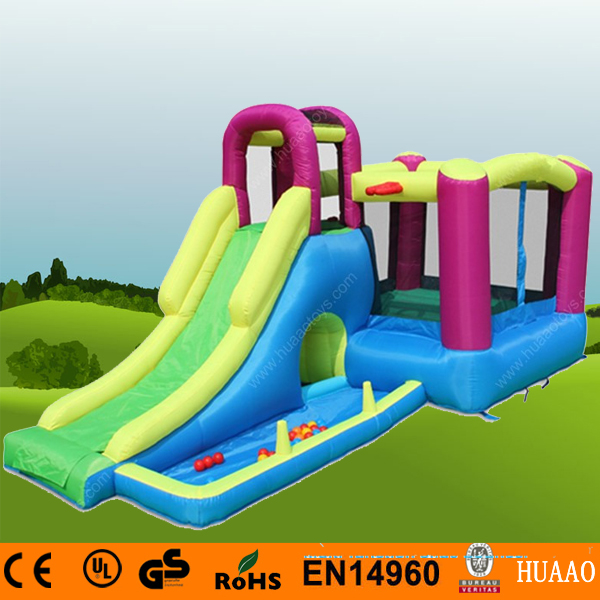Free Shipping Inflatable Mini Bouncer Slide Indoor Playground for kids with Free CE blower children shark blue inflatable water slide with blower for pool