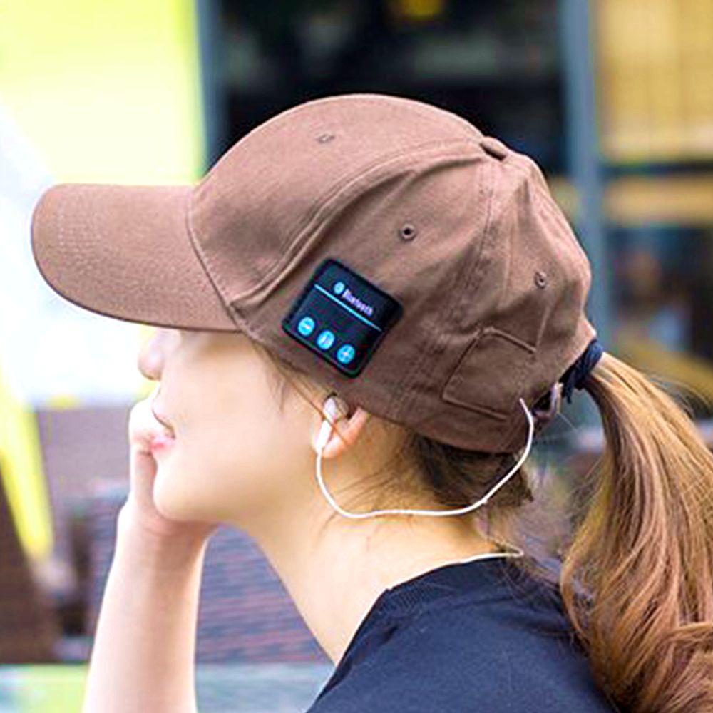 Trådlös Bluetooth-hörlurar Hatt 2 in1 Headset Män Kvinnlig - Bärbar ljud och video
