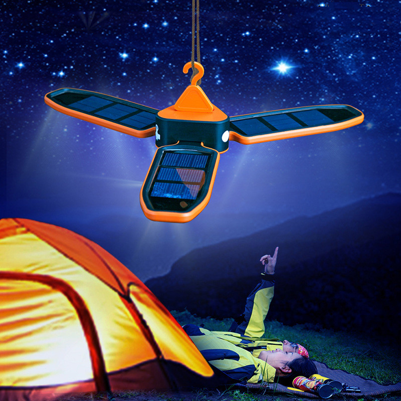 CLAITE Solar Lantern Folding Suspended 18 LED Flood Light Lamp 3 Modes Rechargeable Outdoor Camping Tent Light Emergency Lamp 30w outdoor lantern portable l2 flood light lamp led rechargeable camping hiking torch 3 modes