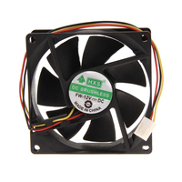 1pcs or 2pcs /Lot fan For cpu radiating 3 Pin 80mm 25mm PC CPU Cooling Fan Heatsinks Radiator cooler fan For Desktop Computer