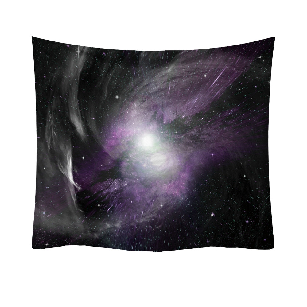Stellar Twins in Purple Starfield Tapestry / Sofa Cover / Ceiling Hanging + AAEONIX Energy Balancing Kit