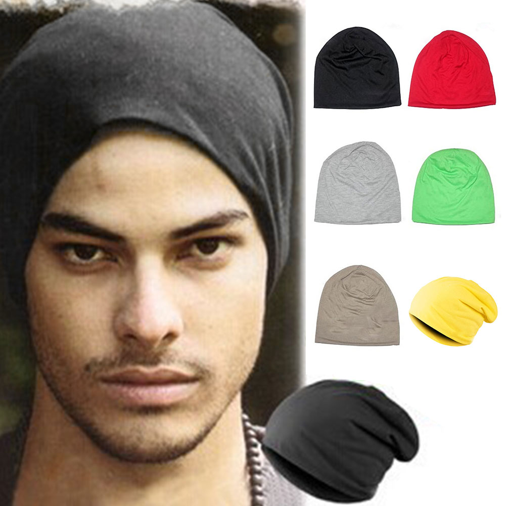 New Fashion Unisex Knitted Hat Men Women Solid Color Winter Spring Summer Autumn Knitted Hat Casual None-eaves Hip-Hop Cap #25