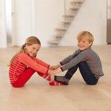 Мериносовой шерсти дети термобелье установить тонкие кальсоны Unisex Мальчики Девочки детей от 1,5 до 14 лет