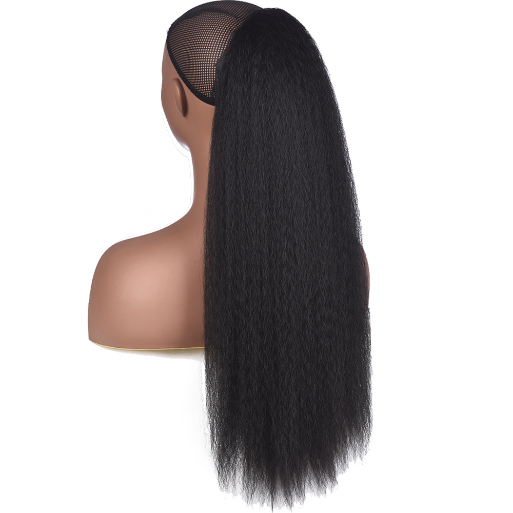 AliLeader 22 Inch Afro Hair Puff Synthetic Drawstring Ponytail for Black Women Kinky Straight Afro Hair Clip Ponytail Extension(China)