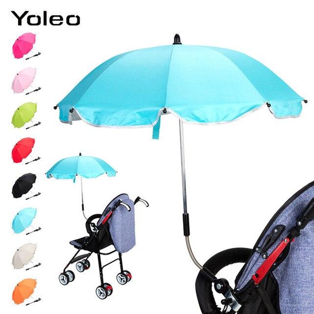 Baby Stroller Umbrella Sun Visor Sun Shade Canopy Cover Stroller Parasol for Buggy Stroller Accessories Car Seat Sun Umbrella