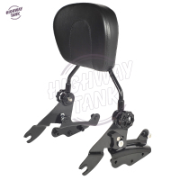 Black Motorcycle 4 Point Docking Hardware Sissy Bar Backrest Motor Passenger Backrest Case For Harley Touring