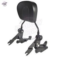 Black Motorcycle 4 Point Docking Hardware Sissy Bar Backrest Motor Passenger Backrest Case For Harley Touring