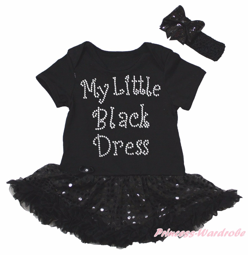 My 1st Heart Father Day Black Bodysuit Gold Bling Girls Baby Dress Shoes NB-18M